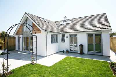 external shot of extension in carnon downs