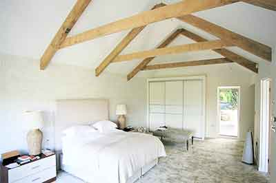 internal shot of master bedroom suite designed by ajc architecture in falmouth